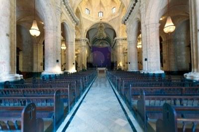 Intérieur de la cathédrale de la havane de la vierge marie à cuba