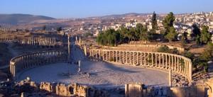 Site archéologique des ruines de Jerash en Jordanie