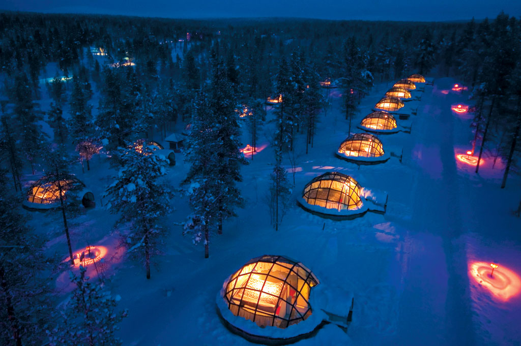 Kakslauttanen en laponie finlandaise, photo d'igloo panoramique