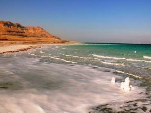 Plage de la mer morte en Jordanie