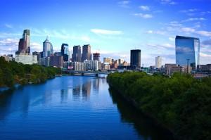 Philadelphie sur la côte Atlantique Nord