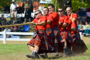 The Essex and Kent Scottish Regiment, a Canadian Army Reserve infantry unit, pulls off against other Regiments during the Glengarry Highland Games.
