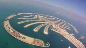 Vue aérienne de Palm Islands