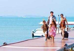 Vacances en famille en bord de mer